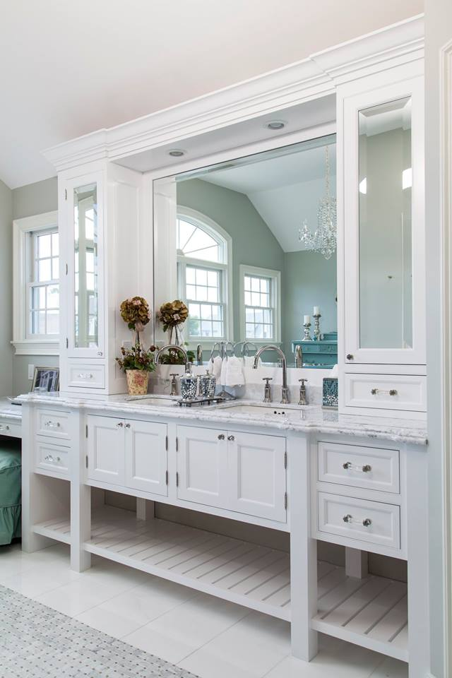 Shaker Style Crystal Vanity, Lakeville Ktichen and Bath