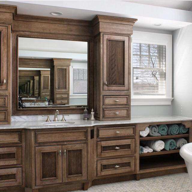 Medallion Cabinetry Vanity in Cherry Cappuccino Finish, Lakeville Kitchen and Bath