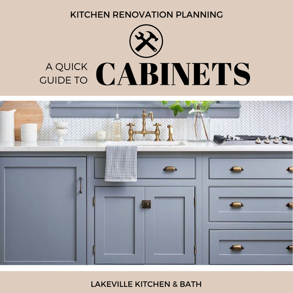 When it comes to cabinets, the options seem limitless. Lakeville Kitchen and Bath breaks down the basics to help you decide which cabinet door style and material is right for your kitchen remodeling project!