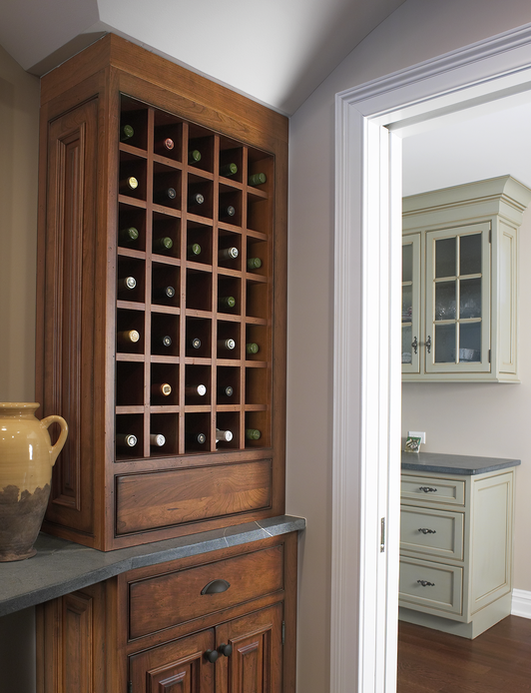 Wine Bar by the Kitchen Cabinetry Experts at  Lakeville Kitchen and Bath