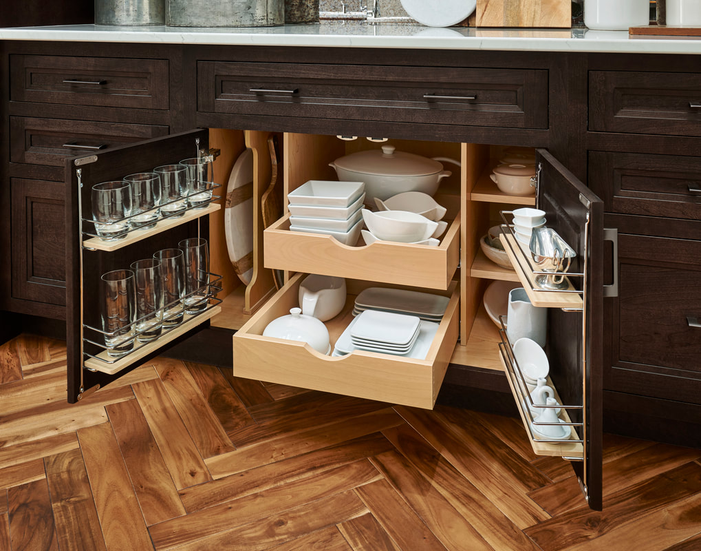 Under Sink Kitchen Cabinet Storage by Medallion Cabinetry and Lakeville Kitchen and Bath