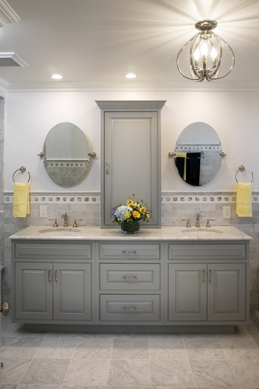 Transitional Inset Bathroom Vanity by Medallion Cabinetry, Lakeville Kitchen and Bath